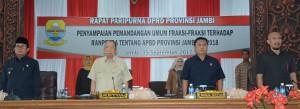 Fraksi DPRD Berikan Pandangan Umum Terhadap RAPBD 2018