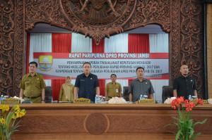 DPRD Gelar Paripurna Penyampaian Hasil Evaluasi APBD Perubahan