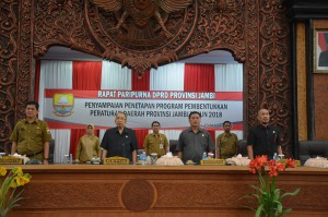 DPRD gelar Paripurna Kesepakatan Propemperda 2018