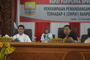 DPRD Tanggapi Empat Ranperda Provinsi