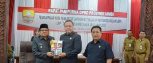 DPRD Gelar Paripurna Penyampaian LKPJ Gubernur Jambi 2017