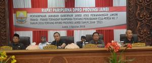 DPRD Dengarkan Jawaban Pemprov Terkait Perubahan RPJMD