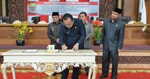 DPRD Setujui Ranperda Pertangungjawaban APBD Jambi 2017