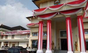 Gedung DPRD Dipercantik Sambut Peringatan HUT RI