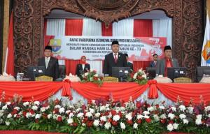 DPRD Gelar Paripurna Istimewa Mendengarkan Pidato Presiden