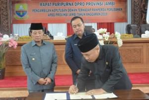 DPRD Setujui Perubahan APBD Pemprov Jambi 2019