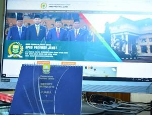 DPRD Raih Juara I Website Award Provinsi Jambi 2019