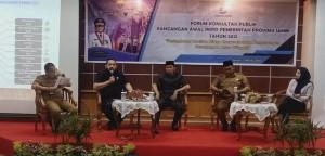 Pimpinan DPRD Jadi Pembicara dalam Forum Konsultasi Publik Rancangan Awal RKPD