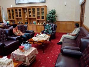 Pimpinan DPRD Provinsi Jambi Sambut Pamitan Danrem 042/Garuda Putih Kol Arh Elphis Rudy
