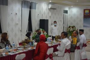 Ketua DPRD Jamu Makan Malam Mensos di Kediaman Dinasnya